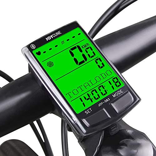 GOMOV Bici De La Computadora Bluetooth del Odómetro del Velocímetro con Sensor Cadencia Inalámbrico Monitor Ritmo Cardíaco Control con Cable LCD Impermeable Tiempo Luz Trasera La Bicicleta