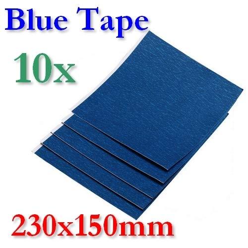 BlueTape - Foglio adesivo, 230 x 150 mm, 2, 5 o 10 fogli, 10 Blatt, 1