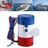 Zerone Bilge Pumpe?12V manuelle Bilgepumpe Miniatur Bilgepumpe voll Tauchen Rost und Feuchtigkeit Schutz 1100 Gallonen GPH -