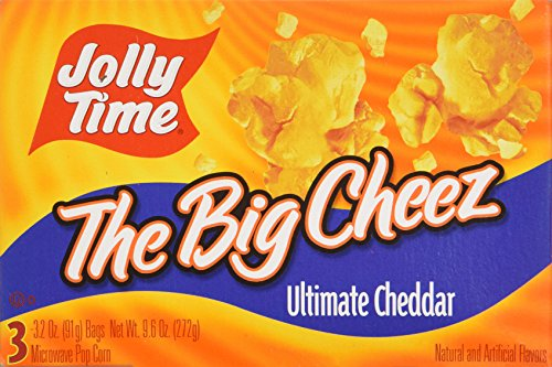 Jolly Time the Big Cheez Cheddar Cheese Microwave Popcorn, 3-count Boxes (Pack of 3)