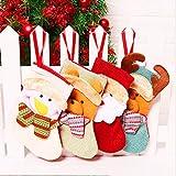 Osuter 8PCS Calcetines de Navidad Colgar Mini Medias de Navidad Personalizado Calcetín de Navidad para Decoración del Arbol