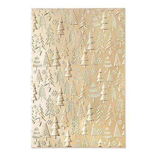 Sizzix 3-D Textured Impressions Embossing Folder, Weihnachtsbaummuster von Kath Breen, 665254, Multicolore, Einheitsgröße