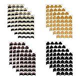 Funyu 384  Stück Fotoecken Selbstklebend Ecken mit 16 Blätter für Fotos Montage Ecken Aufkleber Papier für DIY Fotoalbum Scrapbook Album Tagebuch Bild Dekoration(Vintage)