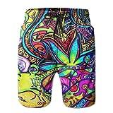 Mens Psychedelic Multi Color Marijuana Leaf Weed Art Printed...