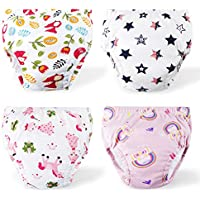 4-Pack Cotton Toddler Potty Training Pants