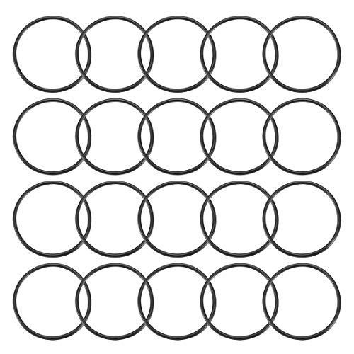sourcingmap 20 Stk schwarze runde Nitril Butadien Kautschuk NBR O-Ring 36 mm Außendurchmesser 1,9 mm Breite de