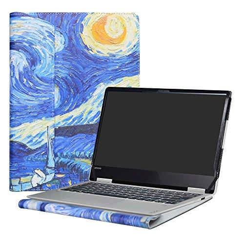 Alapmk Diseñado Especialmente La Funda Protectora de Cuero de PU Para 13.3' Lenovo Yoga 720 13 720-13IKB Ordenador portátil,Starry Night