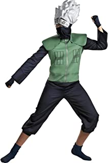 Men's Deluxe Naruto Kakashi Cosplay Costume (Size: Large 42-46)