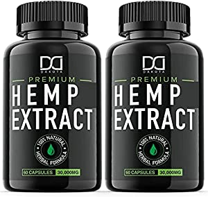 (2 Pack | 1000mg) Hemp Oil for Dogs Cats Pets, Organic Calming Dog Treats for Separation Anxiety Pain Itching Skin Relief - Best Natural Hemp Stress Sleep Aid - Pet Omega 3 6 9 Joint Hip Supplements