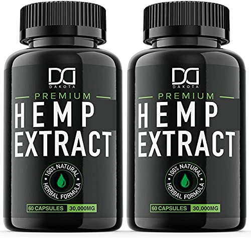 (2 Pack) Hemp Oil Capsules 30000MG for Pain Relief...