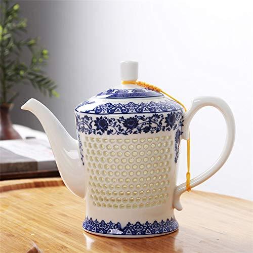 Bijen traditioneel blauw en wit Chinees porselein theepot van oude keramische waterkoker 660 ml van China Kongfu, toen thee Samovar,nationale bloem