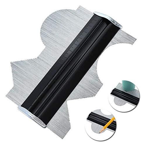 Metal Pin metriska och Inch Scale Contour Profiles Gauge Shape träbearbetning Tool 6 Inch För snickare träbearbetning
