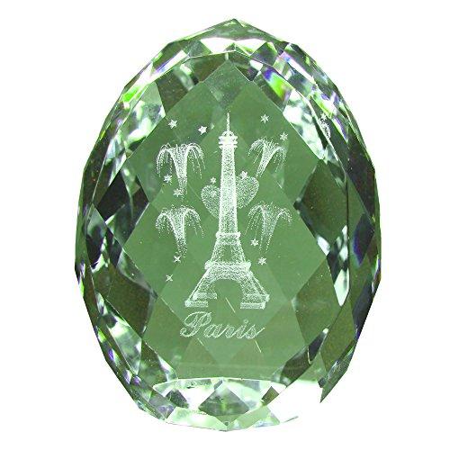 Souvenirs de France - Oeuf Paris Tour Eiffel en Verre - Transparent (5 x 4.2 x 3.8 cm)