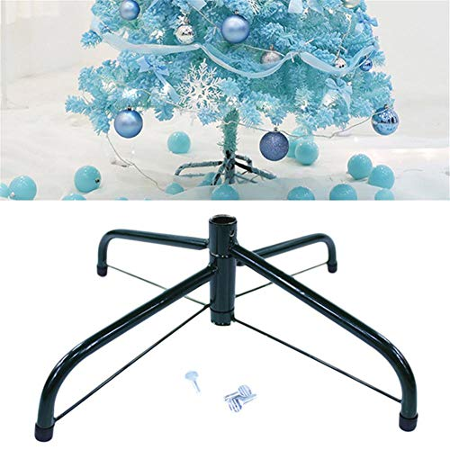 fllyingu Weihnachtsbaumständer Künstlicher Christbaumständer,Christbaum Ständer Klappbarer Boden Gusseisen Ständer Halter Zubehör für Weihnachtsschmuck