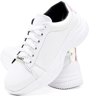 Tênis Feminino Casual Neon Caminhada Plataforma Sneaker Gugi Flatform