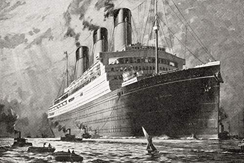 Posterazzi DPI12283568LARGE Rms Majestic White Star Ocean Liner. from The Romance of The Merchant Ship, Published 1931 Photo Print, 34 x 22, Multi