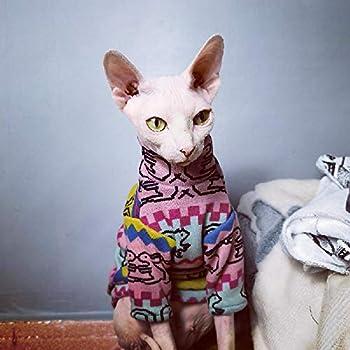 TENGTUDVêtements sans Poils de Chat de, Hiver épaississent Les vêtements d' de Chat de Sphynx/Devon
