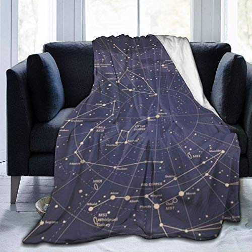 July flower Universe Galaxy Space Stars Cozy-Soft Microfleece Travel Blanket,Great For Travel Or Lounging At Home 60X50 Inch