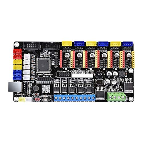 SHIZHI 3D Printer Part Tango V1.0 Control Board Upgraded Rumba Controller Board Support Multi-Color Printing Fit For 3D Printer (Color : Black)