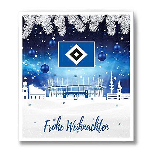 Premium Schoko-Adventskalender – Der lustige Weihnachts-Countdown bis Heilig Abend aus Fairtrade-Kakao + Mannschaftsposter/Fanposter (200 g) (Hamburger SV)