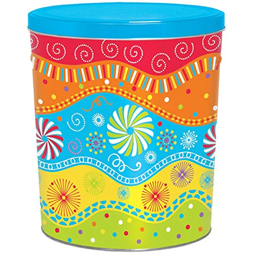 Great Price! C.R. Frank Popcorn - Gourmet Popcorn Tin, 3.5 Gallon, Panache (2 Way, Cheese and Carame...