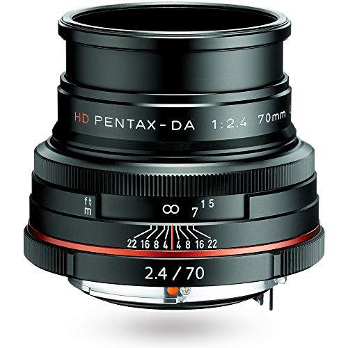 HD PENTAX-DA 70mmF2.4 Limited ブラック 中望遠レンズ, DA リミテッドレンズシリーズ, アルミ削り出しボディ, 全長26㎜ 本体131g 小型軽量設計, APS-C専用設計, HDコーティング, ボディ内手ぶれ補正機構搭載 ペンタックス一眼Kシリーズ 21430