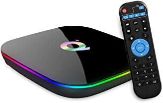 Android TV BOX, Q PLUS Android 9.0 TV BOX 2GB RAM/16GB ROM H6 Quad-Core Supporto 2.4Ghz WiFi 6K HDMI DLNA 3D Smart TV BOX