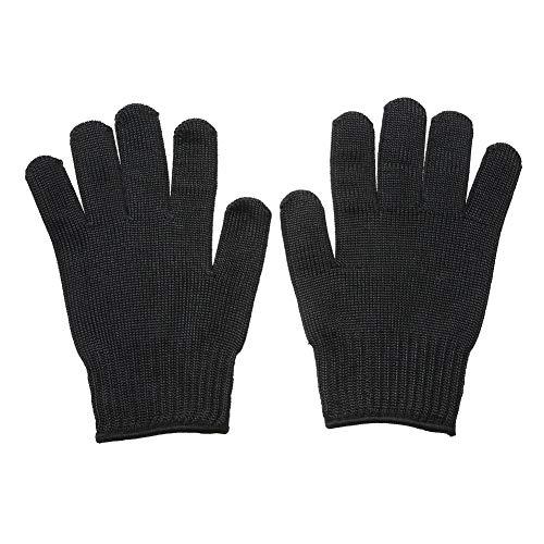 Liroyal - 1 par guantes de protección (malla de acero inoxidable, anticortes, resistente a la estática), negro