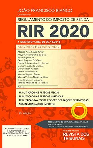 Regulamento Do Imposto De Renda Rir 2020 23º Edição