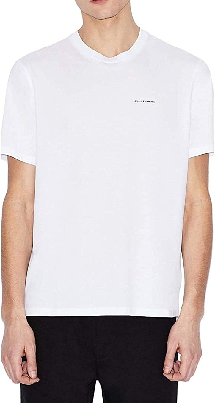 AX Armani Exchange Men's Short Sleeve Crew Neck with Small Chest Logo Shirt
