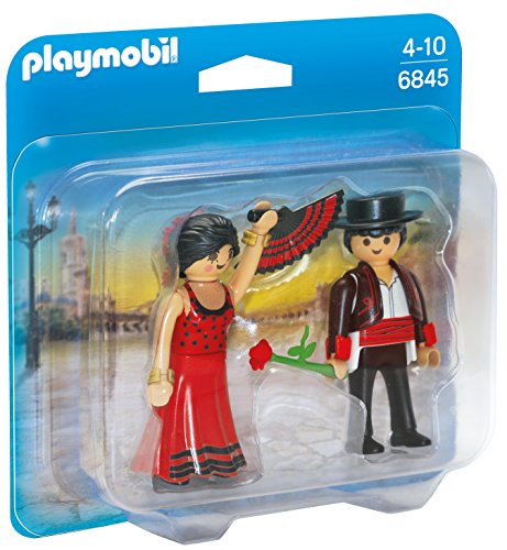 PLAYMOBIL Duo Pack- Flamenco Dancers Duo Pack Bailaores Figura con Accesorios, Multicolor (6845)