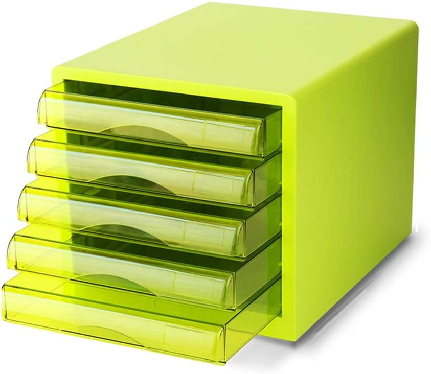 YonCog Easy to Organize Desktop File Plastic New popularity 5 Cabinet Fi Seattle Mall Layers
