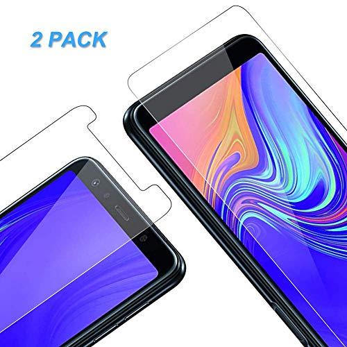 Vkaiy Samsung Panzerglas Schutzfolie, [2 Stück] Ultra-Klar Glas 9H Festigkeit 3D Touch Kompatibel Anti-Kratzen, Anti-Öl, Anti-Bläschen für Samsung (Galaxy A7 2018)