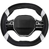 Mayco Bell Coprivolante per Auto in Pelle in Microfibra Adatto per Peugeot 3008 4008 5008 2016-2019 508 208 2019 e-208 (Bianca)