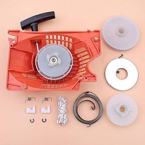 Arrancador de retroceso compatible con chino 5200 5800 52cc 58cc Kit de perro de trinquete de cuerda de resorte de polea tipo fácil