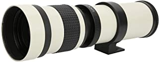 Telephoto Lens, 420-800 mm Aperture F/8.3-16 Super telephoto Zoom Telescope Lens, Full Manual Focusing Telephoto Lens for ...