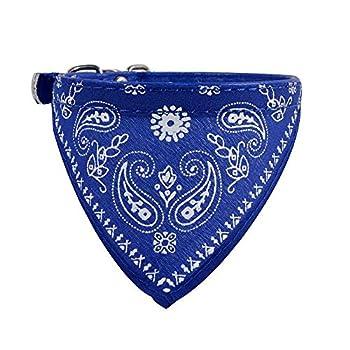 ZYUEER Bandana Collier écharpe Chien Mignon Collier Bandana pour Chiens Triangle Ceintures pour Chiens Accessoires Robe Pet Supplies Dimension: 30.5 * 0.9cm (Bleu)