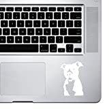 StickAny Palm Series Pit Bull Sticker for MacBook Pro, Chromebook, and Laptops (White)