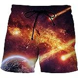 Bañadores Para Hombre Impresión 3D Meteorito Pantalones Cortos Con Estampado De Meteoritos Cordón Suelto De Verano Pantalones Cortos Casuales De Secado Rápido Pantalones De Playa Bañador Ropa De