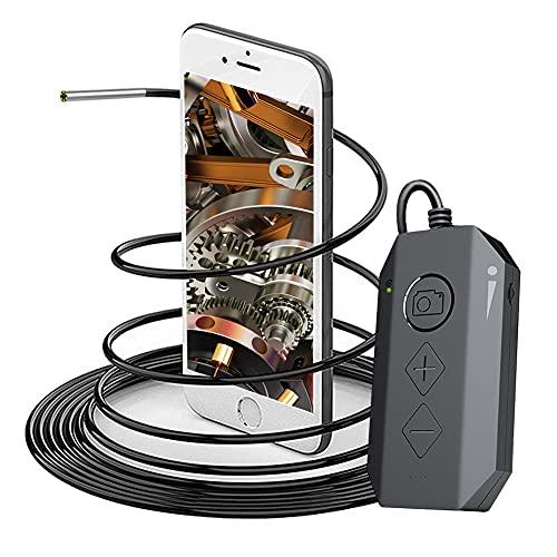 DDENDOCAM Drahtlose Endoskop-Inspektionskamera, 3,9 mm, WiFi, Boreskop 1080p, HD, IP67, wasserdicht, Schlangenkamera für iPhone, Android (2 m)