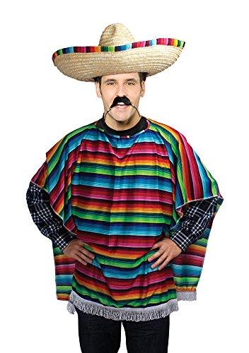 Bristol Novelty- Poncho Mexicano Adulto Disfraz, Multicolor, Talla única (AC560)