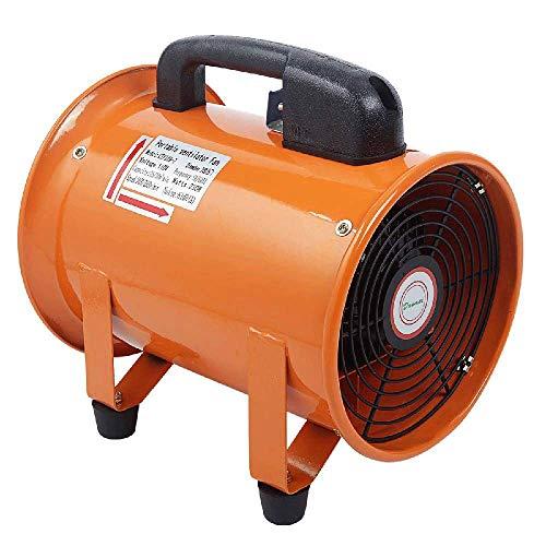 OSLAMP 8 Inch 110V Utility Blower Fan Portable Orange Ventilator Fan High Velocity Multifunctional