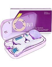 Fixget Derma roller igłowy, 1 mm, tytanowy wałek do twarzy, ciała, włosów, 0,5 mm, zapobiega wypadaniu włosów, rozjaśnia zmarszczki, blaknie, trądzik