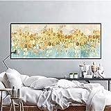 ganlanshu Pintura sin Marco Resumen árbol de Oro Lluvia Moneda Que Fluye Bandera Larga Lienzo póster Sala Arte de la paredCGQ8126 30X60cm