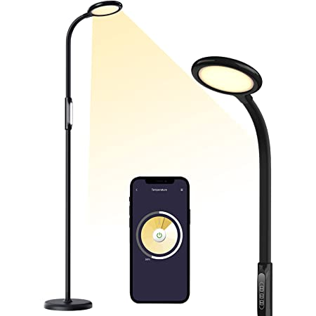 Meross Smart LED Floor Lamp, Torchiere Floor Lamp Supports HomeKit, Alexa and Google Assistant, Dimmable Standing Floor Lamp for Bedroom, Living Room with Tunable White, Schedule and Timer