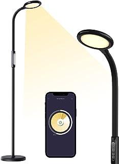 چراغ طبقه LED Meross Smart ، چراغ طبقه Torchiere از HomeKit ، Alexa و دستیار Google پشتیبانی می کند ، چراغ طبقه Dimmable ایستاده برای اتاق خواب ، اتاق نشیمن با سفید قابل تنظیم ، برنامه و تایمر