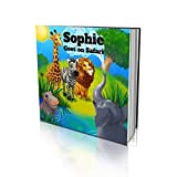 Personalized Story Book by Dinkleboo -'The Safari' - Teaches Your Child All About Safari Animals - for Children Aged 2 to 8 Years Old - Soft Cover - Smooth, Glossy Finish (8'x 8')