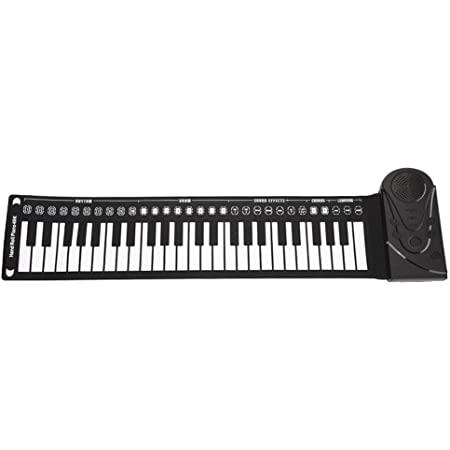 Nero Bianco Strumento Musicale Regalo Portatile USB Tastiera Elettronica KEESIN 49 Tasti Roll Up Piano