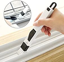 ON GATE 2-in-1 Multi-Function Window Slot Brush with Dustpan Screen Keyboard Drawer Wardrobe Corner Gap Dust Removal Cleaning Brush