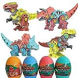 WSZMD Juguetes De Modelo De Dinosaurio Montado, 4 En 1 Juguetes De Dinosaurios Ensamblados De Bricolaje con Destornillador Dinosaur Modelo De Juguete,Gift Box